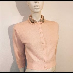 40s Kimberly Knitwear, Pearl Button Wool Sweater